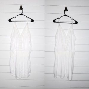 NWOT Tiara Hawaii White Deep V Back Mini Dress